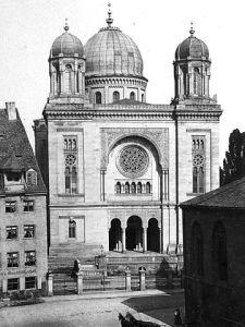 Die Synagoge in Nürnberg.